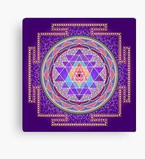 Sri Yantra Purple Canvas Print