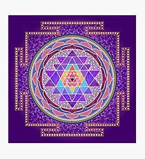 Sri Yantra Purple Photographic Print