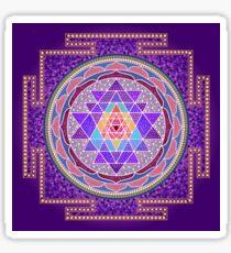 Sri Yantra Purple Sticker