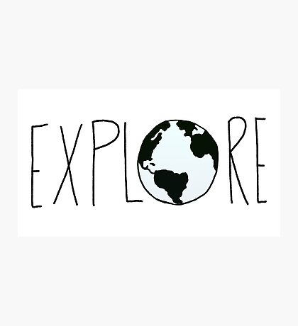 Explore the Globe Photographic Print
