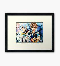 Riku & Sora (Kingdom Hearts) Framed Print