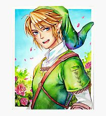 Link is happy to see you (Legend Of Zelda) Photographic Print
