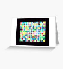 Grid Painting Greeting Card