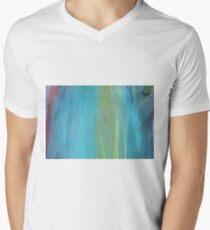 ABSTRAKTE glatte HIMMEL T-Shirt mit V-Ausschnitt für Männer