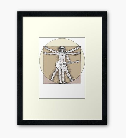 Vitruvian Rock Framed Print