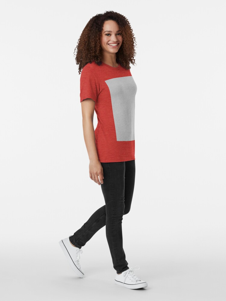 Alternate view of Beautiful Cushions/ Plain Silver Tri-blend T-Shirt