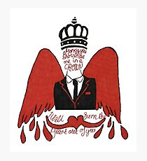 moriarty you should see me in a crown Photographic Print