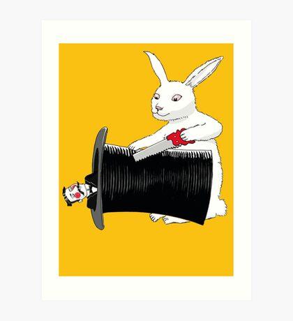 Rabbit vs. Magician Art Print