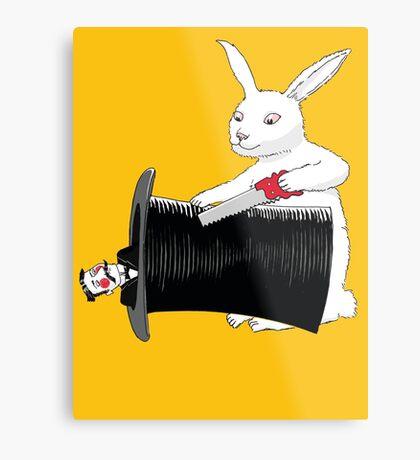 Rabbit vs. Magician Metal Print