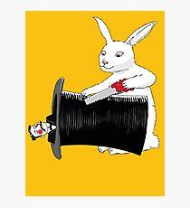 Rabbit vs. Magician Photographic Print