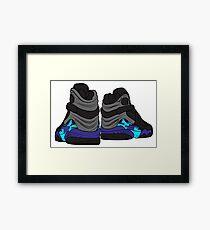 Aqua 8s Framed Print