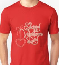 Happy Valentines Day Theme Unisex T-Shirt