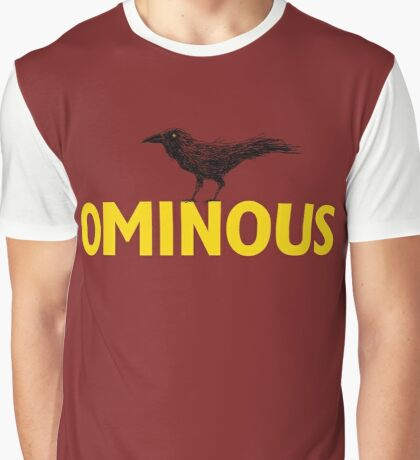 Ominous Crow Graphic T-Shirt