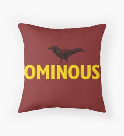 Ominous Crow Throw Pillow