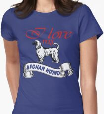 i love my Afghan dog Women's Fitted T-Shirt