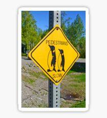 Slow Pedestrians Sticker