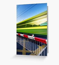 Fast train Greeting Card