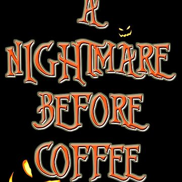 NIGHTMARE BEFORE CHRISTMAS FONT Coffee by djhypnotixx