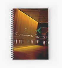 Fountain from the Adelaide Oval Bridge at night Spiral Notebook