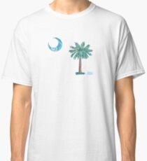 Palmetto Tree and Moon by Jan Marvin Classic T-Shirt