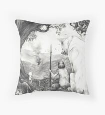 Between the roots and the branches Throw Pillow