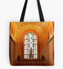 Lobby Of Guardian Building In Detroit At Christmas Tote Bag
