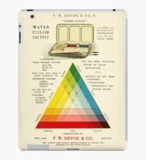 Gorgeous early 20th c. color instruction image iPad Case/Skin