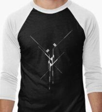 Futuristic Geometric Lines Men's Baseball ¾ T-Shirt
