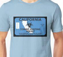 Zombie Hunting Permit - CALIFORNIA Unisex T-Shirt