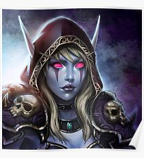 Lady Sylvanas Windläufer Poster