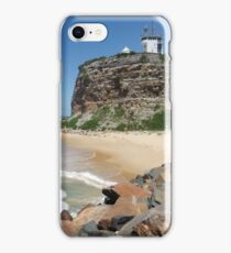 Nobbys Head Lighthouse, Newcastle iPhone Case/Skin