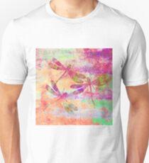 Mauritius Vintage Dragonflies Colours QF Unisex T-Shirt