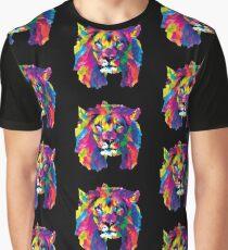 Geo Löwe Grafik T-Shirt