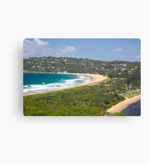 Sydneys palm beach and pittwater Canvas Print