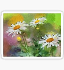 Oxeye daisies - painted Sticker