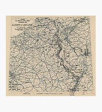 February 2 1945 World War II HQ Twelfth Army Group situation map Photographic Print