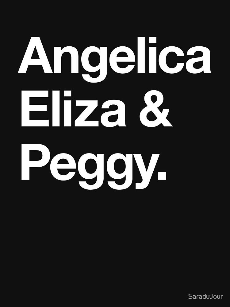 Helvetica Angelica Eliza und Peggy (Weiß auf Schwarz) von SaraduJour