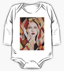 Red Mosaic One Piece - Long Sleeve