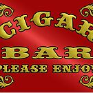 CIGAR BAR by thatstickerguy