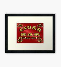 CIGAR BAR Framed Print