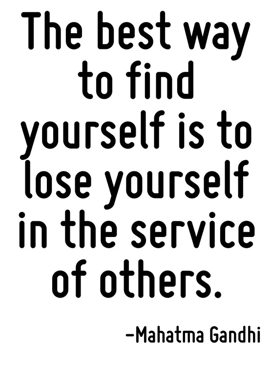 "MBTI enneagram type of ""The best way to find yourself is to lose yourself in the service of others"""