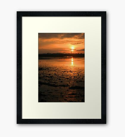 Amber Gold Framed Print