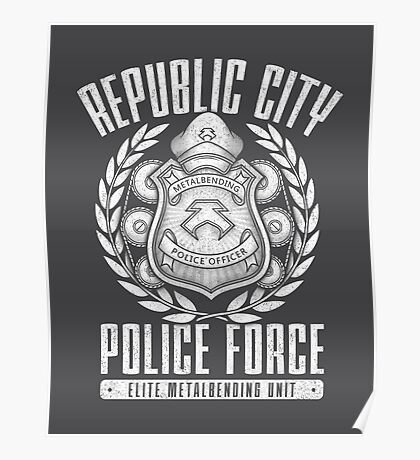 Avatar Republic City Police Force Poster