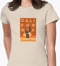 Newport Beach - California. Women's Fitted T-Shirt