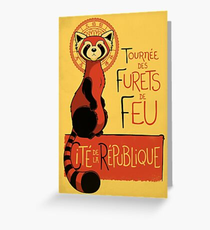 Les Furets de Feu Greeting Card