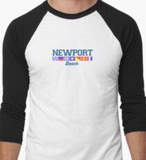Newport Beach - California. Men's Baseball ¾ T-Shirt