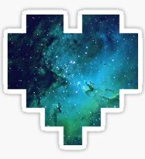 Broken Pixel - Galaxy Pixel Heart Sticker