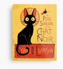 La Petite Sociere et le Chat Noir - Service de Livraison Metal Print
