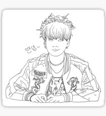 Flowery Suga Sticker