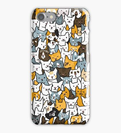 Kitten Pile - Find The Rabbit iPhone Case/Skin